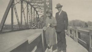 Cotton and his wife Dorothy on the Alamosa bridge