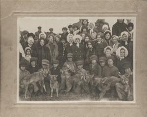 Cotton with his family and neighbors iin Nebraska.  Cotton is first row, third from the left.