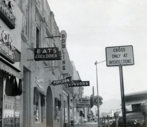 Main Street, Canon City, Colorado in the 1940s or 1950s